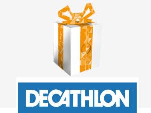logo i pudełko Decathlon