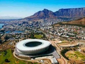 stadion i widok miasta