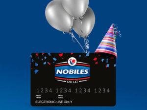 karta płatnicza z balonikami