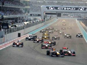 pierwsza prosta wyścigu F1