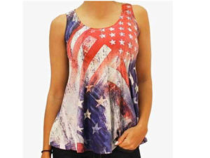 koszulka w motywach flagi USA