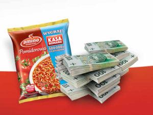 torebka z zupą plus banknoty