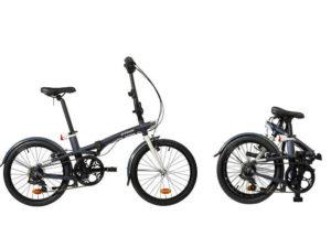 rozłożony i złożony rower