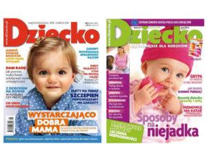 dwie okładki magazynu