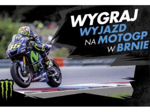 plakat z motocyklistą